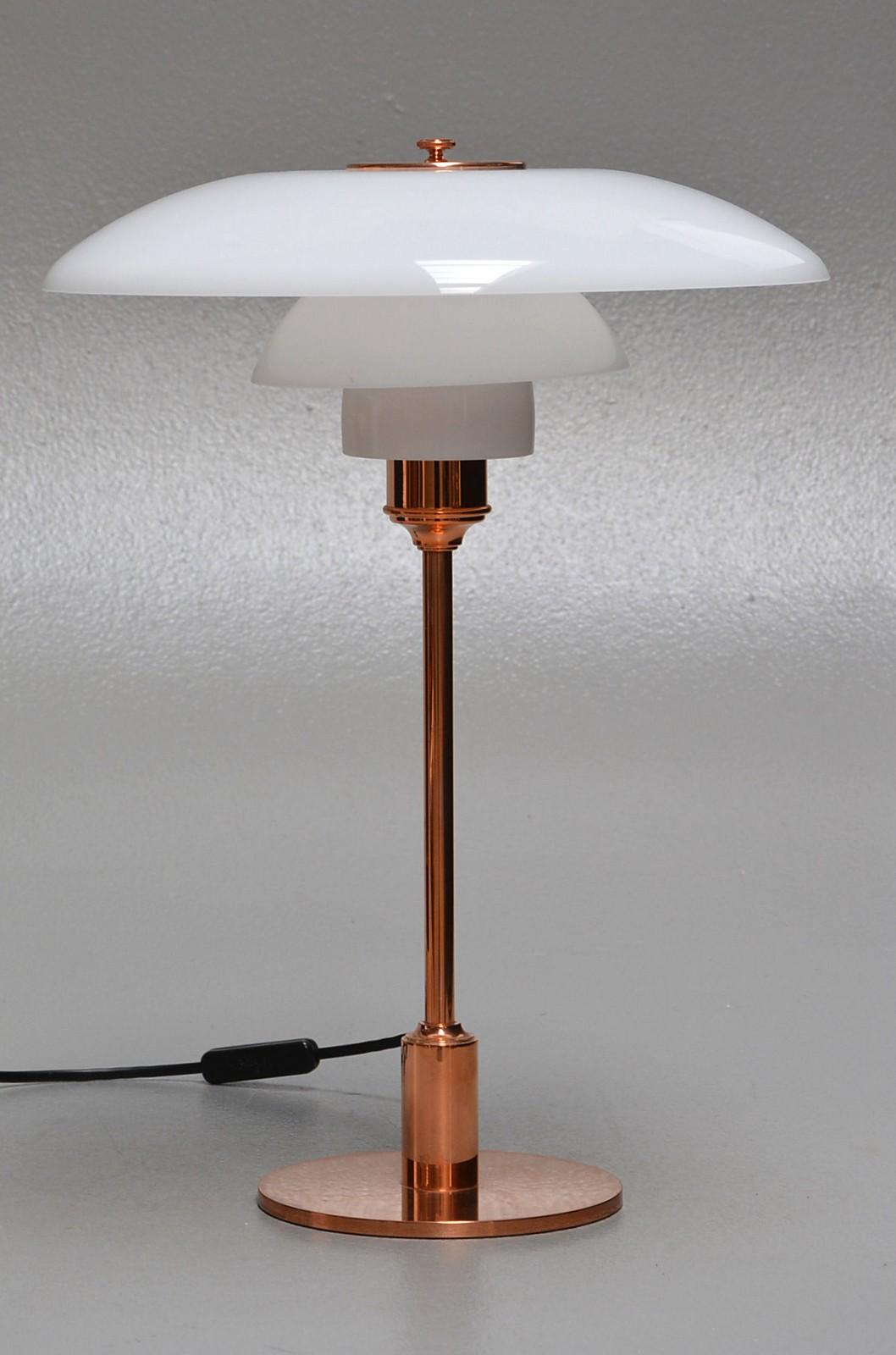 Poul Henningsen for PoulsenPH i 2½bordlampe 3½ Louis uiPkZXO